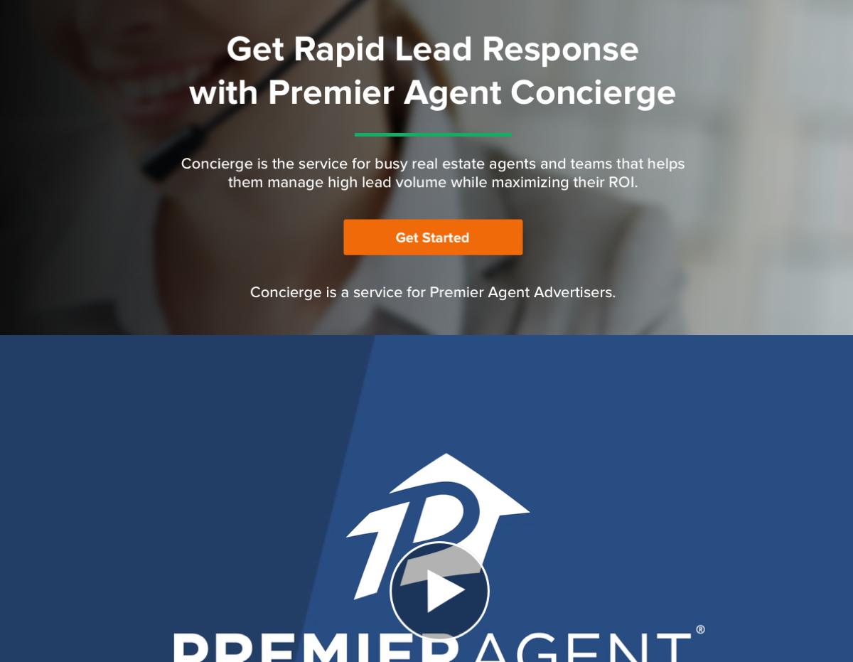 Zillow Premier Agent Concierge Landing Page
